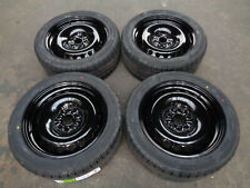 "8""x18"" JBW PEPPERPOT GLOSS BLACK STEEL WHEELS+TYRES TO SUIT VW T5  SET OF 4"