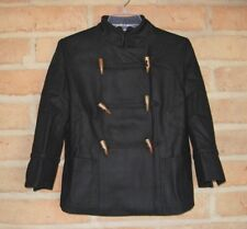 New Black Wool Double Breasted 3/4 Toggle Coat Urban Outfitters Womens Jrs MED