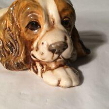 Figurine Cocker Spaniel Dog Springer Field Spaniel Sleeping Lady & The Tramp