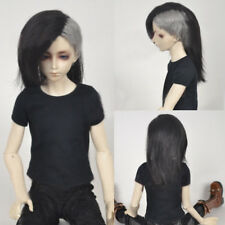 8-9'' 1/3 BJD Doll SD Wig DZ DOD LUTS Straight Black Gray Mix Tokyo Ghoul Hair