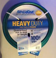 Neverkink Heavy Duty with Reflex Mesh Flexible 5/8 in x 100 ft Garden Water Hose