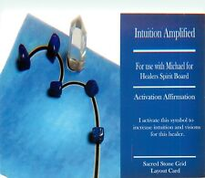 "Intuition Amplified Grid Card 4x6"" Heavy Cardstock For Use with Healing Crystals"
