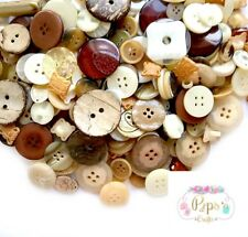 Mixed Brown Buttons Assorted Sizes Sewing Crafts Card Making Embellishments