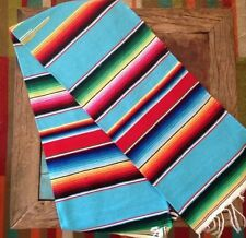 """Classic Mexican Sarape Place Mat Table Runner 54""""x 22"""" Zarape Decor Great Color"""