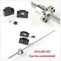 CNC Ball Screw 12mm SFU1204 w/ Ballnut & BF/BK10 End Support L=250mm-1500mm