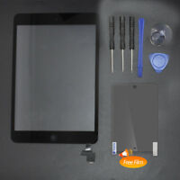 For iPad Mini 1 2 Touch Screen Glass Digitizer Replacement+ IC Chip+ Home Button