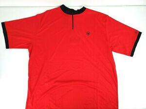 Canari Mens Cruiser Cycling Jersey Short Sleeve 1/4 Zip Red Size 2XL NWT