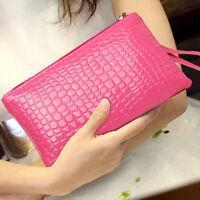 AU_ Fashion Women's Wallet Purse Card Phone Holder Makeup Zip Handbag Candy