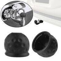 Black Rubber Tow Ball Bar Towing Protect Towbar Towball Cap Cover 50mm ZOU