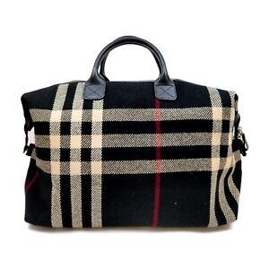 Burberrys Tote Bag  Black Fabric 2207360