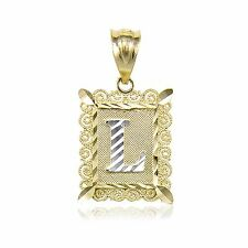 Multi tone gold letters numbers words fine necklaces pendants ebay 14k solid yellow gold initial letter plate pendant a z alphabet necklace charm mozeypictures Images