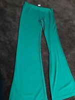 Damenhose XL smaragdgrün viskose jersey gummizug neu