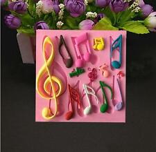 Silicone Mold Music Note Multi  Mat  Fondant Decorating Cake  Mould Tool