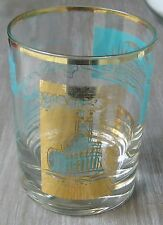 Steamboat Southern Comfort 12 oz Promotional Glass Tumbler Gold Rim