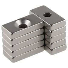 10pcs N52 Grade Strong Magnets 20X10X4mm Hole 4mm Rare Earth Neodymium