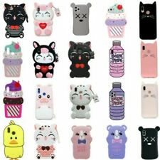 3D Cartoon Soft Silicone Phone Case Cover For iPhone 6/7/8Plus 11 Pro Max Huawei