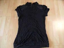 QS S.OLIVER schönes Shirt m. Spitze schwarz Gr. S  ZC316