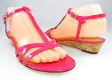 $248 KATE SPADE VIOLET Cork Wedge Sandals Low Heels Designer Womens Shoes 8.5