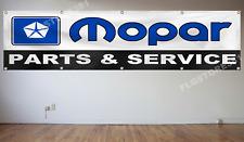 Mopar Banner Flag 2X8ft Parts Dodge Chrysler Plymouth Flag Garage Shop Man Cave