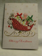 Paper Magic Handmade - Sleigh Full of Presents - Christmas Greeting Card - NEW