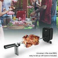 Electric BBQ Universal Rotisserie Spit Rod Kit Skewer Grill Roast Meat w/ Motor