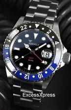 Squale 1545 30 Atmos GMT BATMAN BLUE / Black CERAMICA Watch with WARRANTY