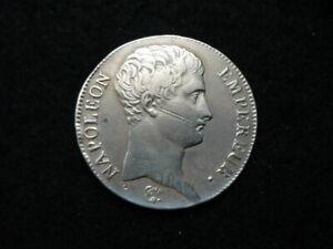 5 Francs Napoléon Empereur AN 13 M Toulouse, argent.