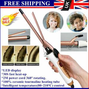Professional Ceramic Hair Curler Curling Tongs Styler LED 9/13/22/25/28/32mm UK