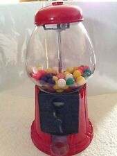 "VINTAGE CLASSIC Glass & Metal Bubble Gum Ball Machine/Bank - Taiwan 11.5"" Tall"