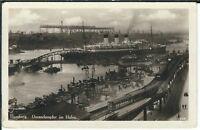 Ansichtskarte Hamburg - Ozeandampfer im Hafen - 1935 - schwarz/weiß