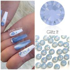 Swarovski X 50 Mixed Size Air Blue Opal Glue on Crystals Rhinestones Nail Art