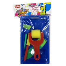 PITTURA Per Bambini Vassoio con spugne, spazzole a rulli e schiuma-Animale ANTICS