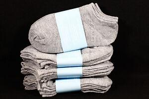 6-8 Kid's Boy's Girls Low Ankle No Show Comfort Gray Socks Cotton Spandex Junior