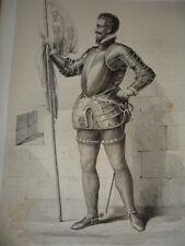 MOYEN AGE / GRAVURE 1840 / HENRY DE GUISE
