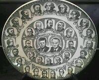 Vtg Presidential Portrait Plate Kettlesprings Kilns  Kennedy and Johnson