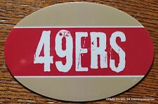 San Francisco 49ers Oval Car Magnet Made In The Usa Football Sports Waterproof
