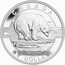 Canada 2013 Oh! Canada Series 4 Polar Bear $10 Pure Silver Proof