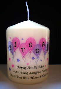 personalised 50th 60th birthday candle gift daughter mum sister auntie friend