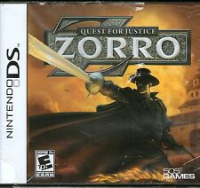 ZORRO-QUEST FOR JUSTICE -Nintendo DS-Brand New-Sealed-NDS Lite DSi XL