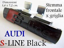 AUDI S S-line BLACK NERO A1 A3 A4 A5 A6 A8 TT Stemma Badge Logo Calandra Griglia