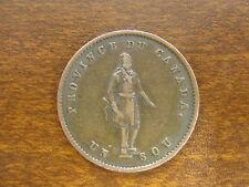 1852 Province Du Canada -Un Sou- Quebec Bank Token Half-penny