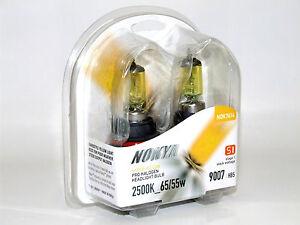 Nokya 2500K 65/45w Hyper Yellow 9007/HB5 Halogen Headlight High/Low Beam Bulbs B