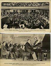Camille SAINT-SAENS (Composer): Two Original Photo Postcards of Farewell Concert