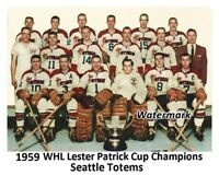 1959 WHL Seattle Totems Lester Patrick Champs Team Pic 8 X 10 Photo Picture