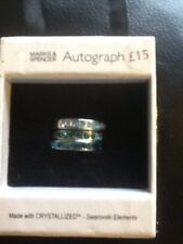 BRAND NEW - SET OF THREE SWAROVSKI RINGS - MARKS AND SPENCER - AUTOGRAPH - S / M
