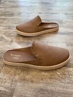 Koolaburra By Ugg Womens Tan Canvas Slip On Mule Comfort Shoes Size 9 NWOB
