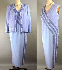 S Balian Formal Gown L Blue Mother of The bride Evening 2pc dress suit Couture