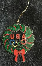 1998 USA OLYMPIC CHRISTMAS ORNAMENT WREATH METAL