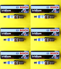 New SET OF 6 BOSCH Fine Wire Double Iridium Spark Plugs - Made in Germany