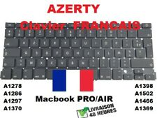 clavier macbook A1278 A1286 A1297 A1370 A1369 A1466 A1502 A1398 francais AZERTY